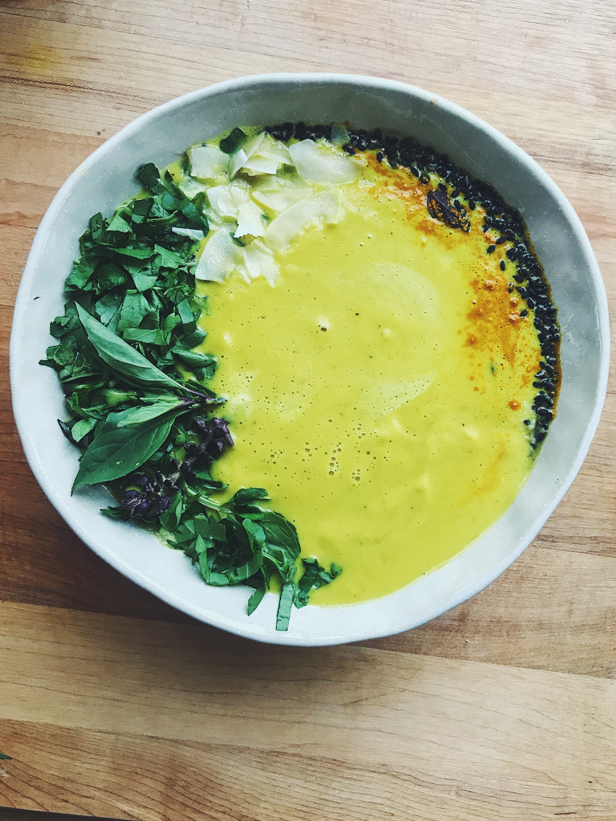 picture Miso-Turmeric Soup with Leafy Greens